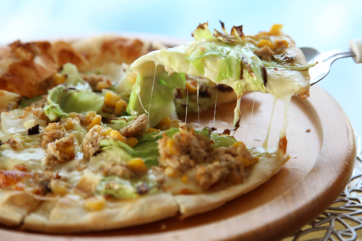 福津野菜のチーズピザ